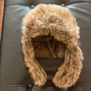 Faux fur lined winter hat